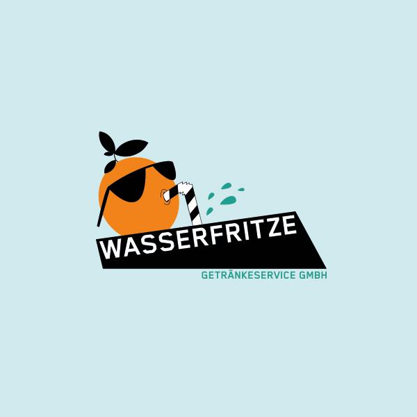 WASSERFRITZE GETRÄNKESERVICE GMBH LOGODESIGN KÖLN