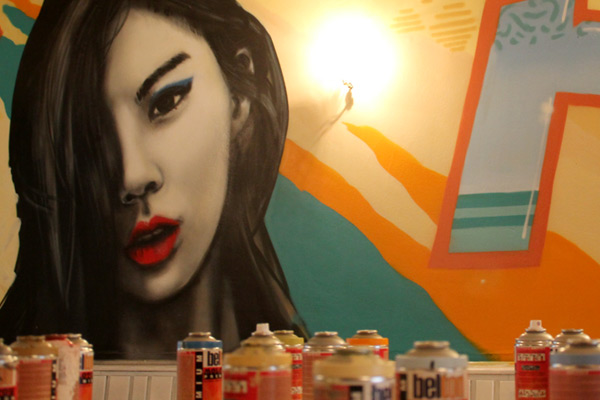 Graffitigestaltung Essen: Noa Sushibar