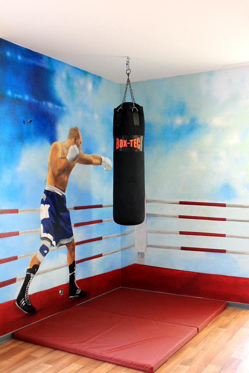 Boxer im Ring als Kunstwerk