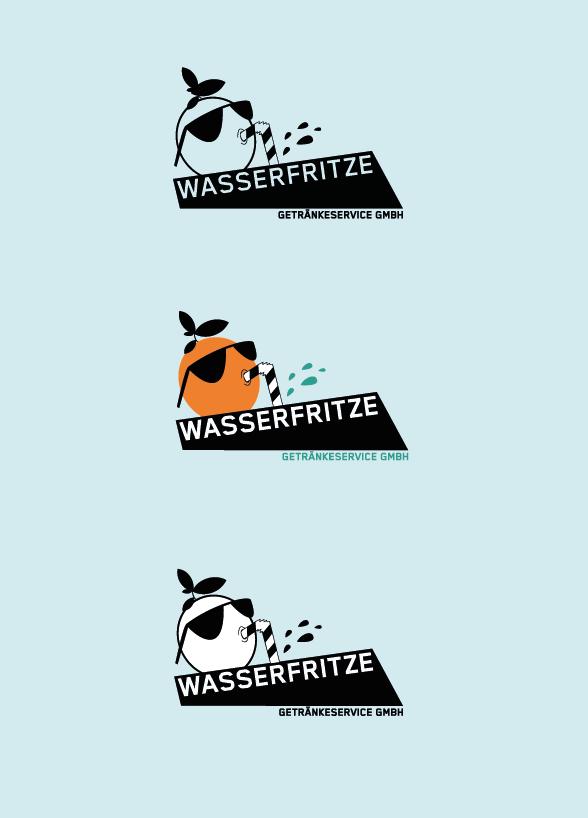 Logodesign für den Getränkeliferservice aus Köln mit einer trinkenden Orange, die eine Sonnenbrille trägt