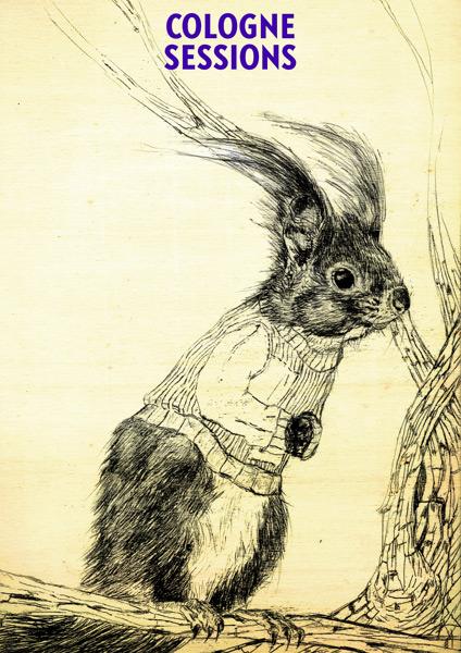Eichhörnchen Illustration für Flyer eines Events in Köln