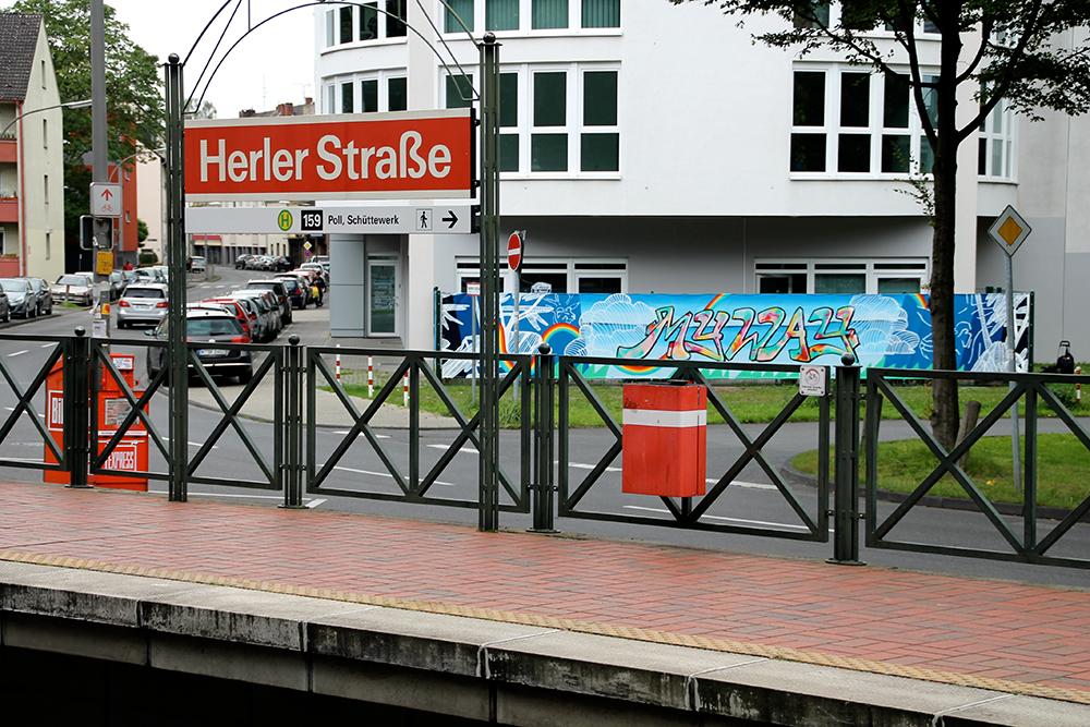 WERBEBANNERGESTALTUNG KÖLN, Graffitigestaltung an der Herler Straße Köln, Farbkombo