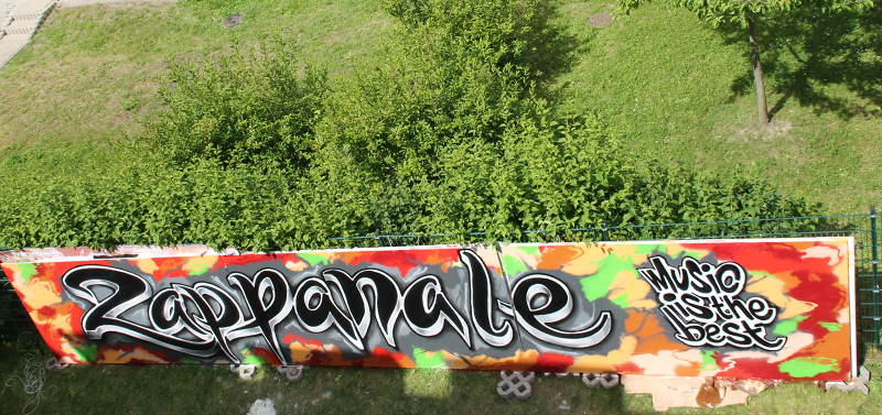 Graffiti auf der Zappanale