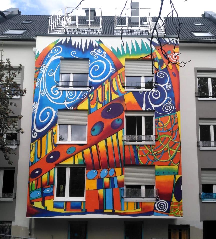 Fassadendesign Farbkombo