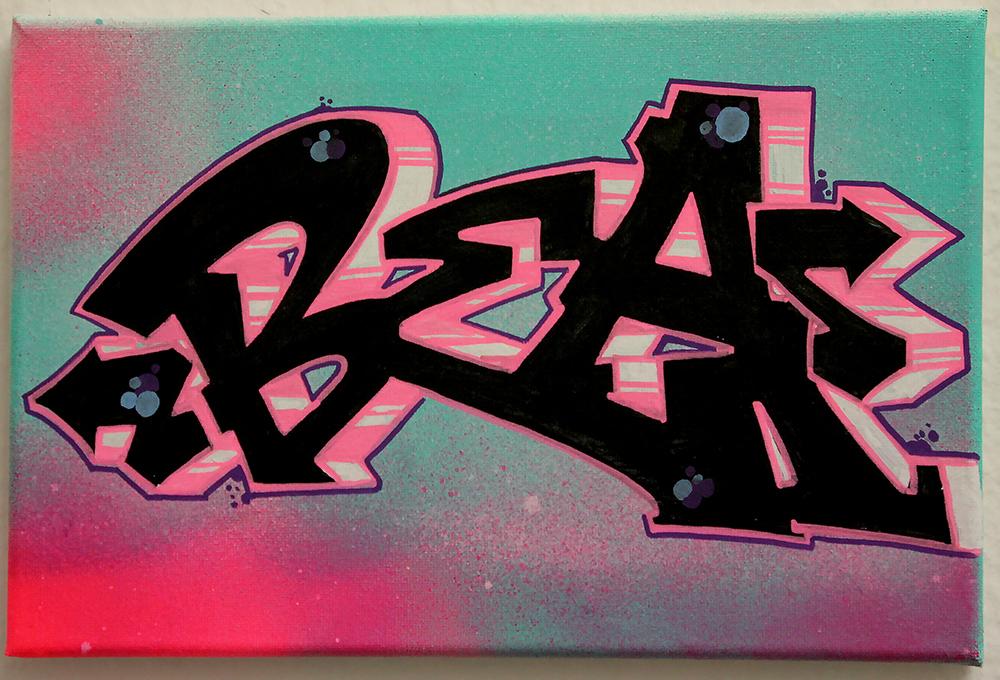 Graffiti-Leinwand Köln Bea