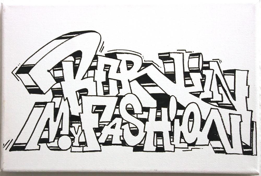 Graffiti Köln auf Leinwand: Farbkombo malt Leinwand für Berlin my Fashion