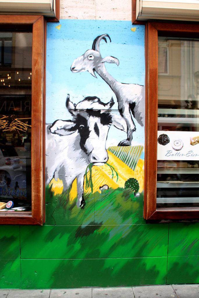 Ziege und Kuh Farbkombo
